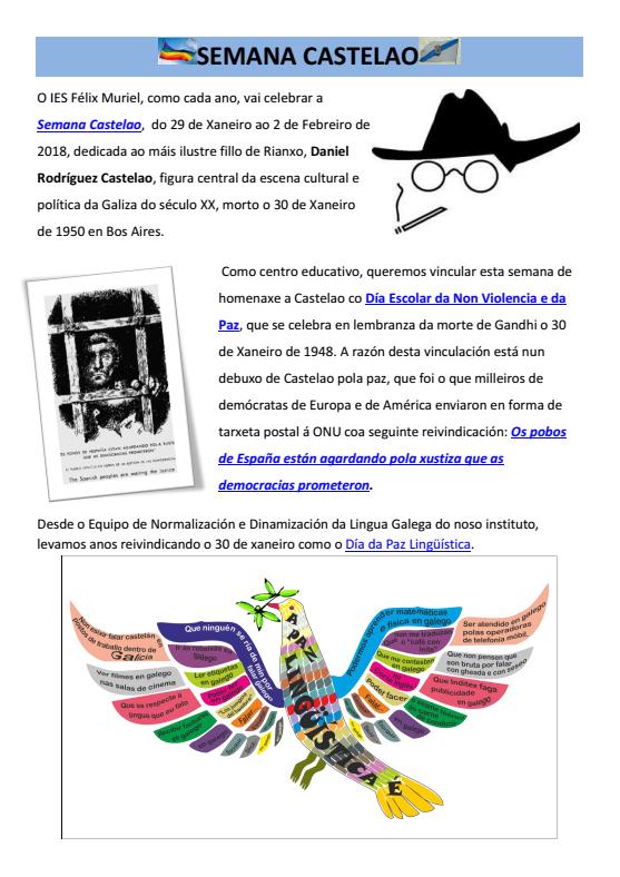 semana de Castelao 2018